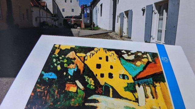 4 - Schloß mit Kandinsky-Bild
